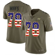 Wholesale Cheap Nike Buccaneers #78 Tristan Wirfs Olive/USA Flag Youth Stitched NFL Limited 2017 Salute To Service Jersey