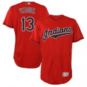 Wholesale Cheap Indians #13 Omar Vizquel Red Flexbase Authentic Collection Stitched MLB Jersey