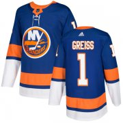 Wholesale Cheap Adidas Islanders #1 Thomas Greiss Royal Blue Home Authentic Stitched NHL Jersey