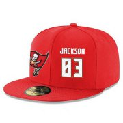 Wholesale Cheap Tampa Bay Buccaneers #83 Vincent Jackson Snapback Cap NFL Player Red with White Number Stitched Hat