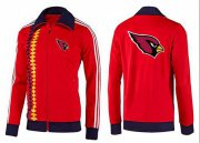 Wholesale Cheap NFL Arizona Cardinals Team Logo Jacket Red_2