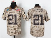 Wholesale Cheap Nike Redskins #21 Sean Taylor Camo Men's Stitched NFL New Elite USMC Jersey