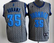 Wholesale Cheap Oklahoma City Thunder #35 Kevin Durant Gray Static Fashion Jersey