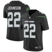 Wholesale Cheap Nike Jets #22 Trumaine Johnson Black Alternate Youth Stitched NFL Vapor Untouchable Limited Jersey