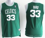 Cheap Boston Celtics #33 Larry Bird Green Swingman Throwback Kids Jersey