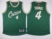 Wholesale Cheap Men's Cleveland Cavaliers #4 Isaiah Thomas Revolution 30 Swingman 2015 Christmas Day Green Jersey
