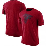 Wholesale Cheap Men's Atlanta Falcons Nike Red Sideline Cotton Slub Performance T-Shirt