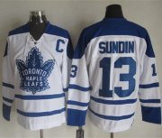 Wholesale Maple Leafs #13 Mats Sundin White CCM Throwback Winter Classic Stitched NHL Jersey