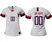 Wholesale Cheap Women's USA Personalized Home Soccer Country Jersey