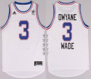 Wholesale Cheap 2015 NBA Eastern All-Stars #3 Dwyane Wade Revolution 30 Swingman White Jersey