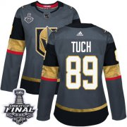 Wholesale Cheap Adidas Golden Knights #89 Alex Tuch Grey Home Authentic 2018 Stanley Cup Final Women's Stitched NHL Jersey