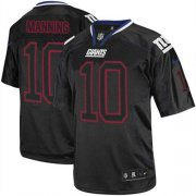 Wholesale Cheap Nike Giants #10 Eli Manning Lights Out Black Youth Stitched NFL Elite Jersey