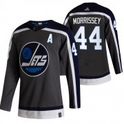 Wholesale Cheap Winnipeg Jets #44 Josh Morrissey Black Men's Adidas 2020-21 Reverse Retro Alternate NHL Jersey