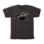 Wholesale Cheap Men's Minnesota Wild Black Rink Warrior T-Shirt