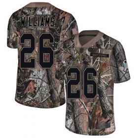 Wholesale Cheap Nike Browns #26 Greedy Williams Camo Men\'s Stitched NFL Limited Rush Realtree Jersey