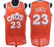 Wholesale Cheap Cleveland Cavaliers #23 LeBron James CavFanatic Orange Swingman Throwback Jersey