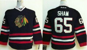 Wholesale Cheap Blackhawks #65 Andrew Shaw Black Stitched Youth NHL Jersey