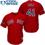 Wholesale Cheap Red Sox #41 Chris Sale Red Cool Base 2018 World Series Champions Stitched Youth MLB Jersey