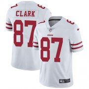 Wholesale Cheap Nike 49ers #87 Dwight Clark White Men's Stitched NFL Vapor Untouchable Limited Jersey