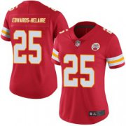 Wholesale Cheap Women's Nike Kansas City Chiefs #25 Clyde Edwards-Helaire Limited Red Team Color Vapor Untouchable Jersey