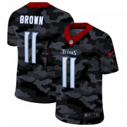 Cheap Tennessee Titans #11 A.J. Brown Men's Nike 2020 Black CAMO Vapor Untouchable Limited Stitched NFL Jersey