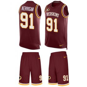 Wholesale Cheap Nike Redskins #91 Ryan Kerrigan Burgundy Red Team Color Men\'s Stitched NFL Limited Tank Top Suit Jersey