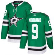 Wholesale Cheap Adidas Stars #9 Mike Modano Green Home Authentic Youth Stitched NHL Jersey