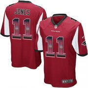 Wholesale Cheap Nike Falcons #11 Julio Jones Red Team Color Men's Stitched NFL Limited Strobe Jersey