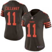 Wholesale Cheap Nike Browns #11 Antonio Callaway Brown Women's Stitched NFL Limited Rush Jersey