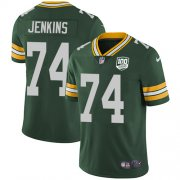 Wholesale Cheap Nike Packers #74 Elgton Jenkins Green Team Color Men's 100th Season Stitched NFL Vapor Untouchable Limited Jersey
