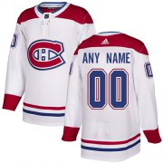 Wholesale Cheap Men's Adidas Canadiens Personalized Authentic White Road NHL Jersey