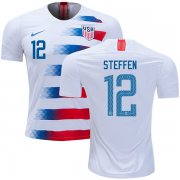 Wholesale Cheap USA #12 Steffen Home Kid Soccer Country Jersey