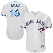Wholesale Cheap Blue Jays #16 Freddy Galvis White Flexbase Authentic Collection Stitched MLB Jersey