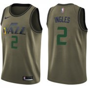 Wholesale Cheap Nike Jazz #2 Joe Ingles Green Salute to Service NBA Swingman Jersey