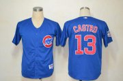 Wholesale Cubs #13 Starlin Castro Blue Cool Base Stitched Baseball Jersey