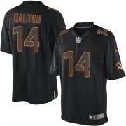 Wholesale Cheap Nike Bengals #14 Andy Dalton Black Men's Stitched NFL Impact Limited Jersey