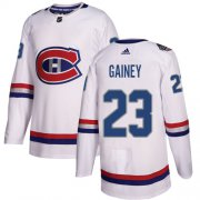 Wholesale Cheap Adidas Canadiens #23 Bob Gainey White Authentic 2017 100 Classic Stitched NHL Jersey