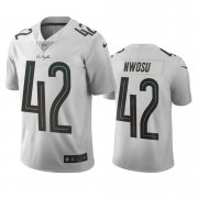 Wholesale Cheap Los Angeles Chargers #42 Uchenna Nwosu White Vapor Limited City Edition NFL Jersey