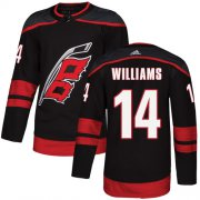 Wholesale Cheap Adidas Hurricanes #14 Justin Williams Black Alternate Authentic Stitched Youth NHL Jersey