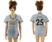 Wholesale Cheap Women's Manchester United #25 Valencia Sec Away Soccer Club Jersey