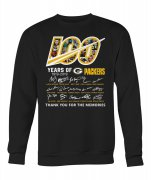 Wholesale Cheap Green Bay Packers 100 Seasons Memories Pullover Sweatshirt Black