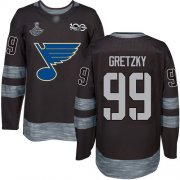 Wholesale Cheap Adidas Blues #99 Wayne Gretzky Black 1917-2017 100th Anniversary Stanley Cup Champions Stitched NHL Jersey
