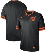 Wholesale Cheap Nike Giants Blank Black Authentic Cooperstown Collection Stitched MLB Jersey