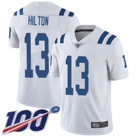 Wholesale Cheap Nike Colts #13 T.Y. Hilton White Men\'s Stitched NFL 100th Season Vapor Limited Jersey