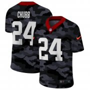 Cheap Cleveland Browns #24 Nick Chubb Men's Nike 2020 Black CAMO Vapor Untouchable Limited Stitched NFL Jersey