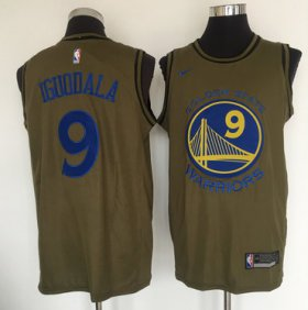 Wholesale Cheap Golden State Warriors #9 Andre Iguodala Olive Nike Swingman Jersey