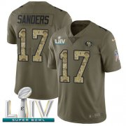 Wholesale Cheap Nike 49ers #17 Emmanuel Sanders Olive/Camo Super Bowl LIV 2020 Men's Stitched NFL Limited 2017 Salute To Service Jersey