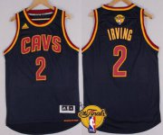 Wholesale Cheap Men's Cleveland Cavaliers #2 Kyrie Irving 2015 The Finals New Navy Blue Jersey