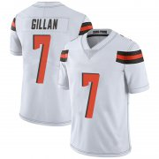 Wholesale Cheap Men's Cleveland Browns #7 Jamie Gillan White Limited Vapor Untouchable Nike Jersey