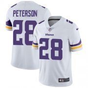 Wholesale Cheap Nike Vikings #28 Adrian Peterson White Youth Stitched NFL Vapor Untouchable Limited Jersey